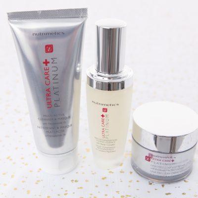 nutrimetics platinum multi active cleansing creme toning essence and dna cellular repair creme