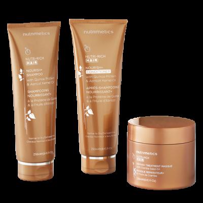 nutrimetics haircare shampoo conditioner hair treatment masque